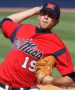 Scott Bittle pitched Ole Miss to a Sunday victory and series win over Georgia, striking out eleven and only allowing one run over seven innings. (Rivals Photo)