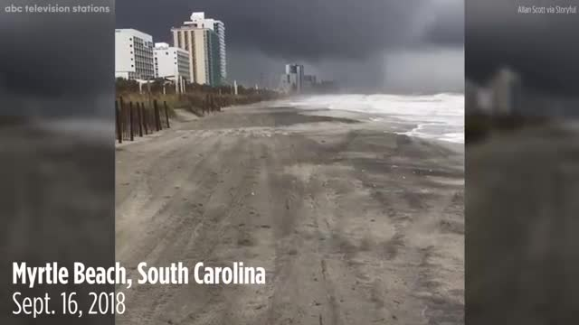 FLORENCE VIDEO: Waterspout comes ashore, becomes a tornado in Myrtle Beach