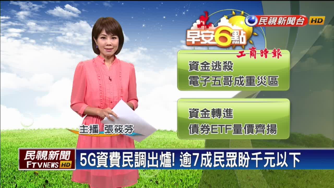 5G資費民調出爐!逾七成民眾盼千元以下