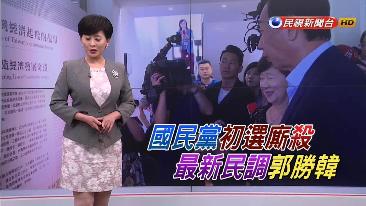 國民黨初選大廝殺!郭台銘最新民調勝韓國瑜