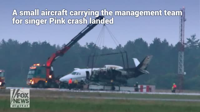 Plane carrying Pinks crew crash lands in Denmark: reports