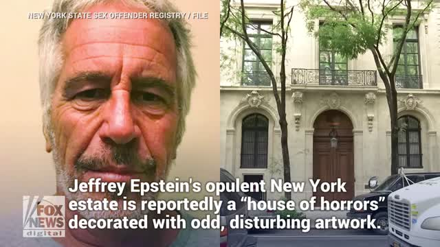Jeffrey Epsteins opulent New York mansion said to contain bizarre, disturbing art