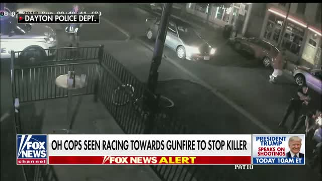 Ohio cops seen racing towards gunfire in Dayton to stop gunman