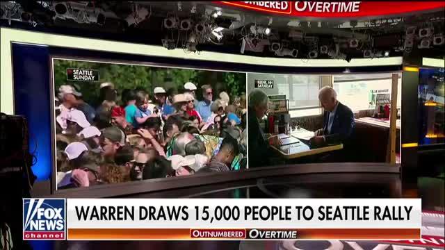 Elizabeth Warren draws crowds as Joe Biden makes gaffes