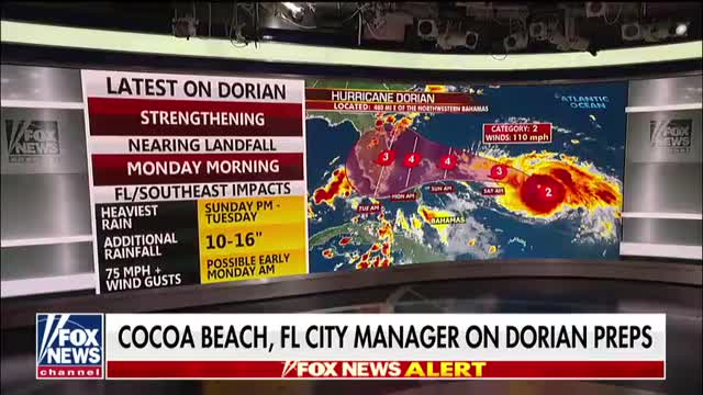 Cocoa Beach city manager says timing of Hurricane Dorian could not be worse