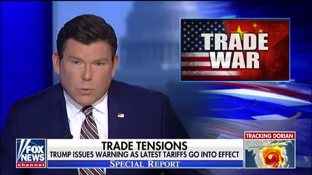 President Trump issues new warning to China as latest tariffs go into effect