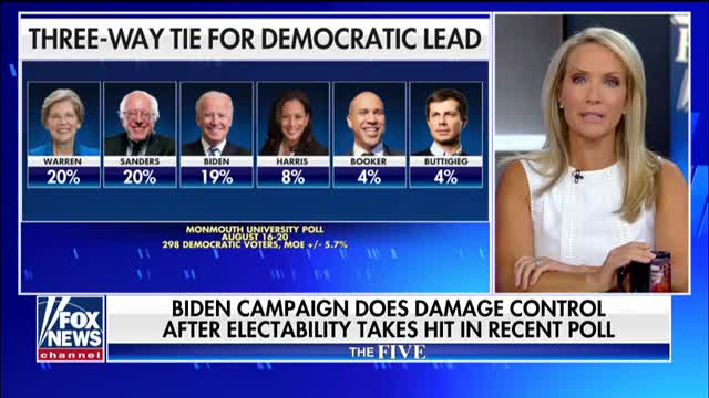 Biden campaign does damage control after electability takes hit in recent poll