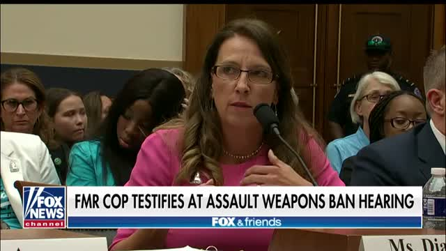Former police officer delivers a powerful message to Congress about a proposed assault-weapons ban
