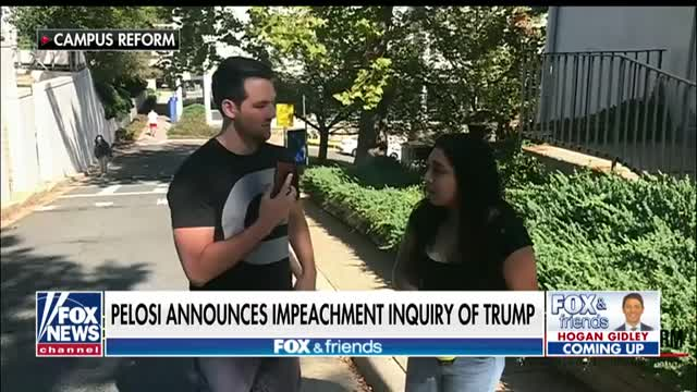 Video shows students calling for the impeachment of President Trump