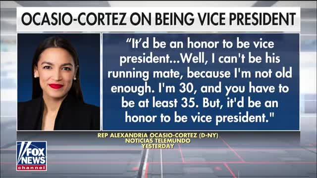 Alexandria Ocasio-Cortez says it would be an honor to be Bernie Sanders vice president