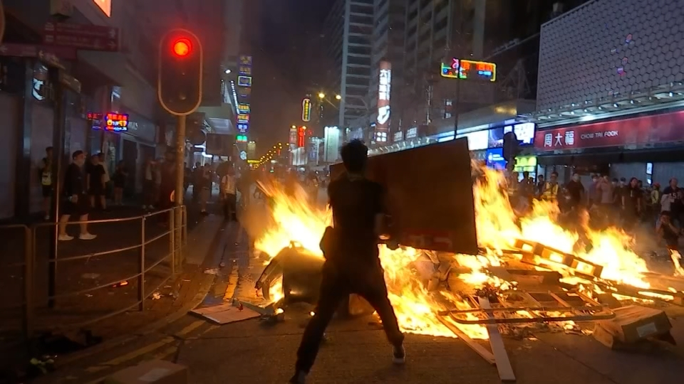 Violence and vandalism in Hong Kong