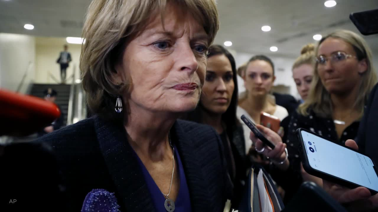 Murkowski says she's a 'no' vote on Trump trial witnesses