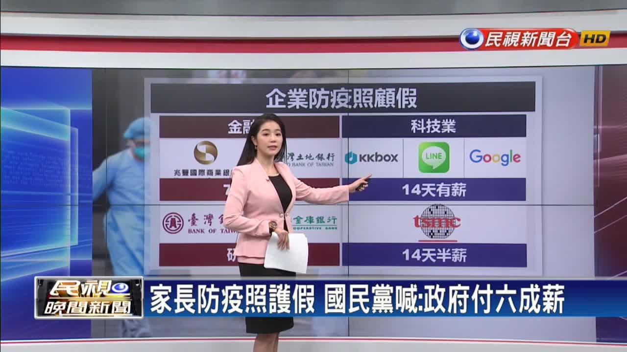 勞動部祭出14日「防疫照顧假」國民黨喊:政府付六成薪