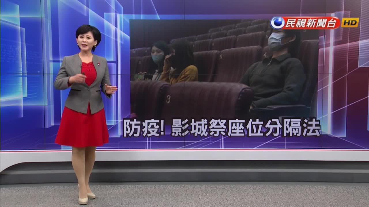 對抗武漢肺炎!哈拉影城實施「座位分隔法」