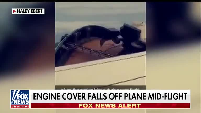 Engine cover falls off United Airlines plane mid-flight