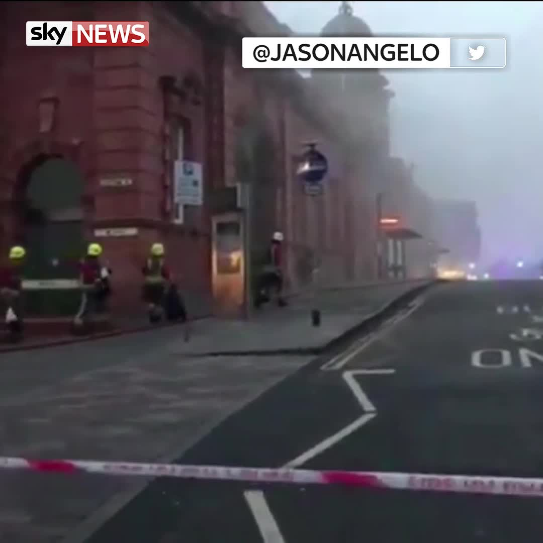 60 firefighters tackle 'large' blaze at Nottingham railway station