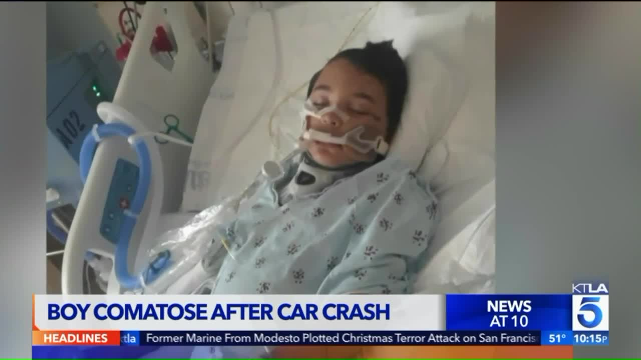 7-Year-Old Boy in Coma After Suffering Brain Injury in Car Crash [Video]