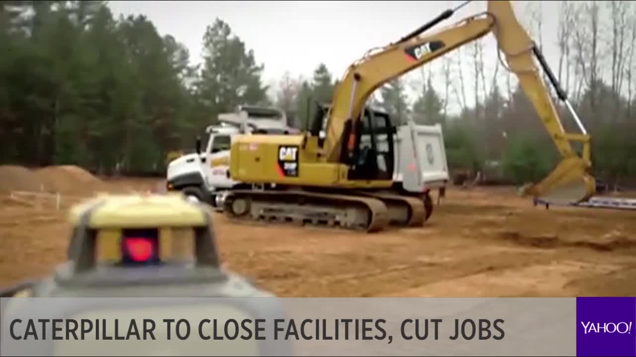 Caterpillar to close facilities, cut jobs