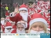 Pack of Santas breaks world record