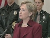 Clinton Grateful to Officers