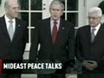 U.S. to push, but not force Mideast peace plan: Bush