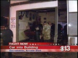 Car Crashes Into Building In Rancho Cordova