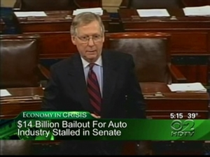 GOP Senators Revolt Against $14B Auto Bailout