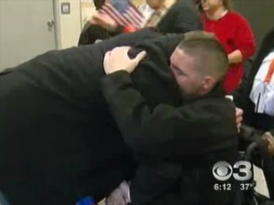 Local War Hero Home For The Holidays