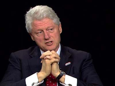 Former President Bill Clinton about his recent book