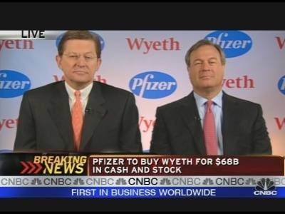 Pfizer & Wyeth CEOs on Acquisition