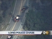 Chase Ends In San Gabriel Canyon