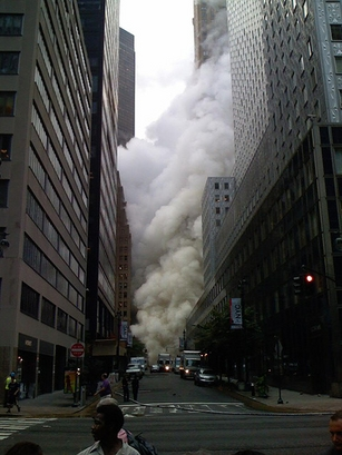 Steam explosion on Lexington Ave., NYC. Looking west at 43th Street from 3rd Ave. (Photo and caption submitted by Xander Strohm)