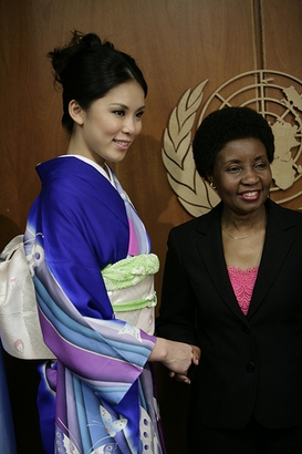 Miss Universe Riyo Mori meets with United Nations Deputy Secretary ...
